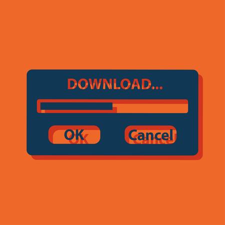 download window progressbar Illustration