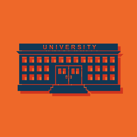 post secondary schools: university building Illustration