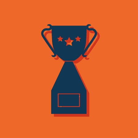 goblet: Vector Champions Cup symbol with stars on orange background