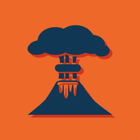 erupting: volcano mountain erupting icon