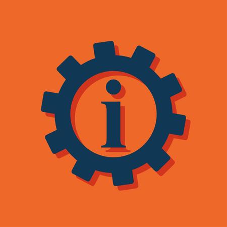 Technical information web icon, vector illustration Illustration