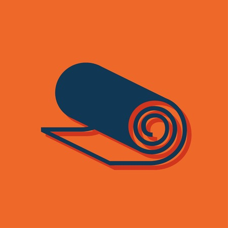 sport mats: Yoga Mat icon, vector illustration