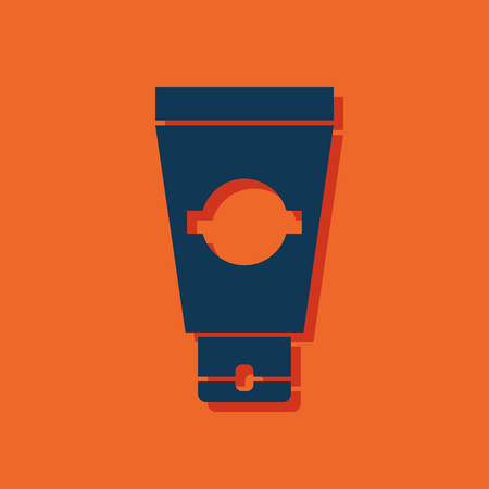 the tube: icon of cream tube