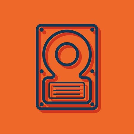 hard: icon of hard disk Illustration