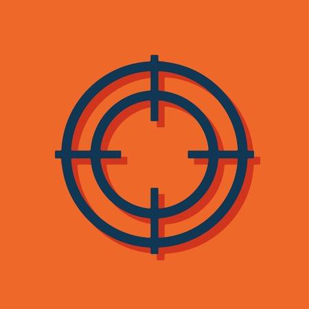 animal shadow: icon of crosshair