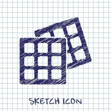 knock: Vector belgian waffles icon. Food icon.  Illustration