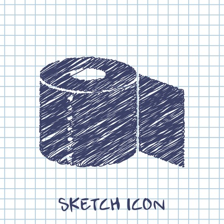 papel higienico: Icono de papel higi�nico Vectores