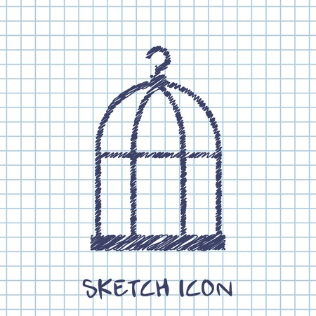 caged: Bird cage icon