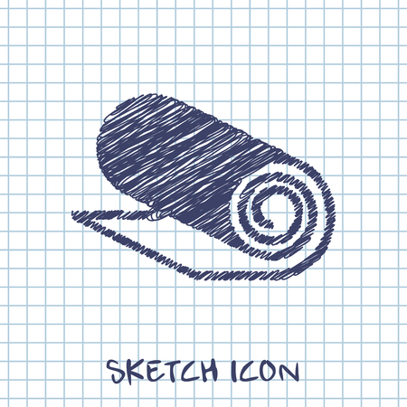 mat: Yoga Mat icon, vector illustration