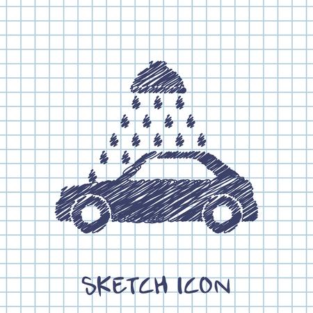 wash: Vector icon of car wash