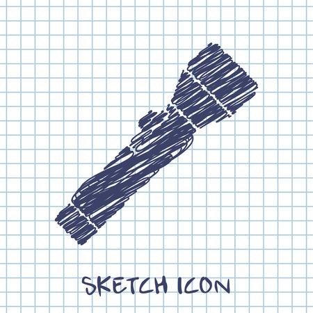lay off: Flashlight icon Illustration