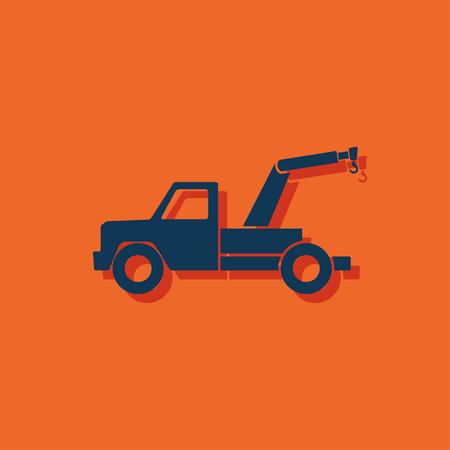 camion grua: icono de coche de remolque