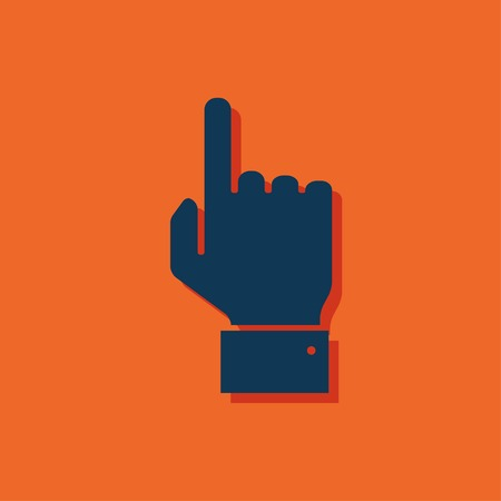 pointing hand: icon of pointing hand