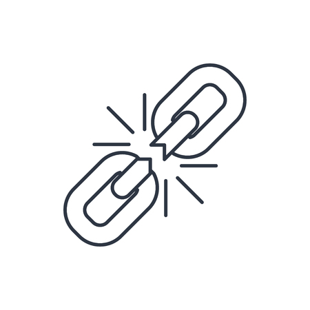 Chain link outline icon