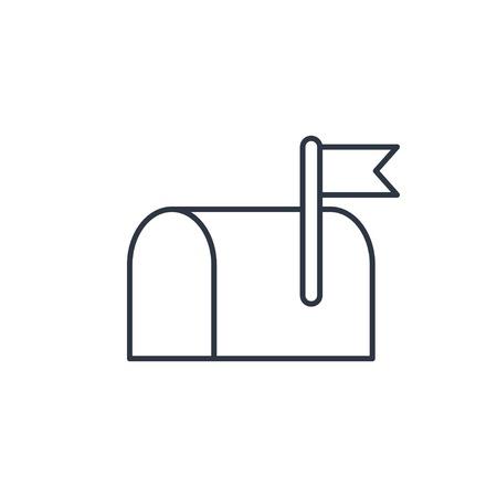 Mail box outline icon Illustration