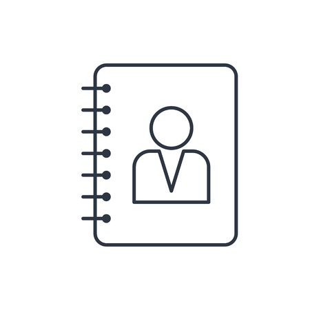 address book outline icon