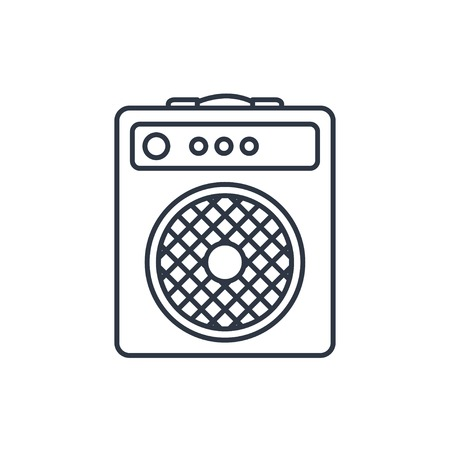 overdrive: guitar amplifier outline icon