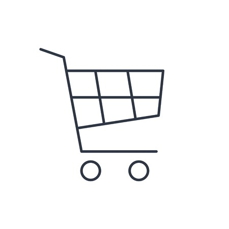 shopping cart icon: shopping cart outline icon
