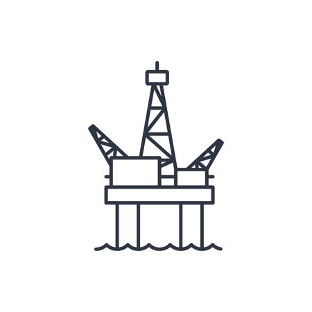 oil platform: Oil platform outline icon Illustration