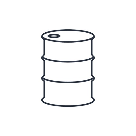 lubricant: Vector outline icon barrels of oil