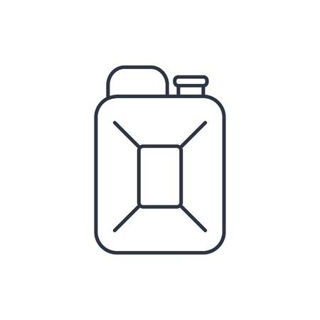 Canister: fuel canister outline icon