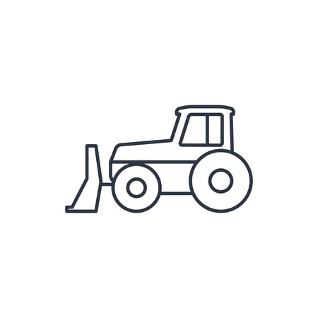 quarry: bulldozer outline icon