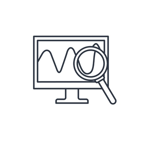 logging: Monitoring outline icon