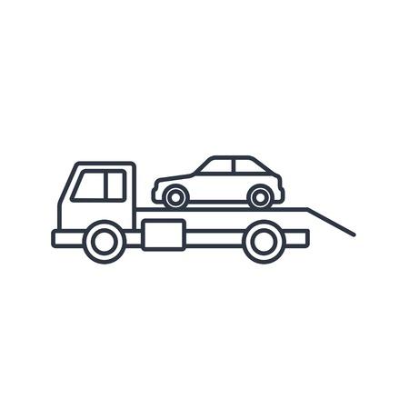 evacuacion: Tow icono del contorno de evacuaci�n coche