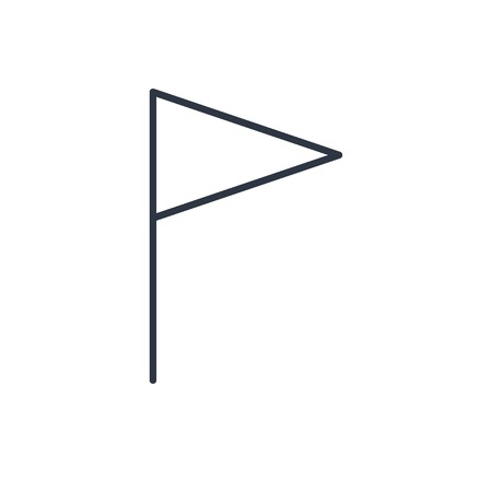 accomplish: outline icon of flag
