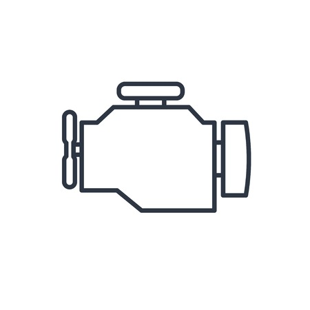car outline: outline icon of engine