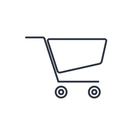 shopping cart icon: outline icon of shopping cart