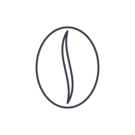 outline icon of coffee bean