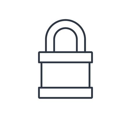 outline icon of locked padlock Ilustrace