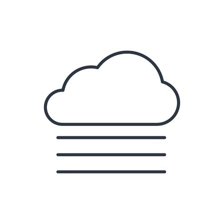 wheather forecast: outline icon of foggy weather Illustration
