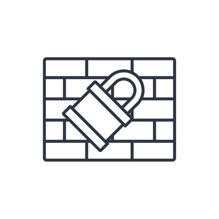 firewall: outline icon of firewall