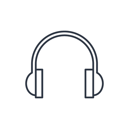 outline icon of headphones