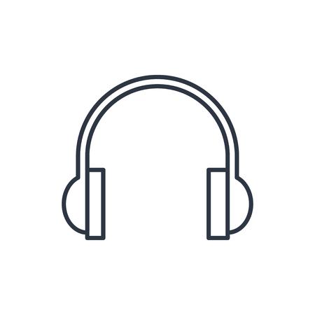 headphones: outline icon of headphones