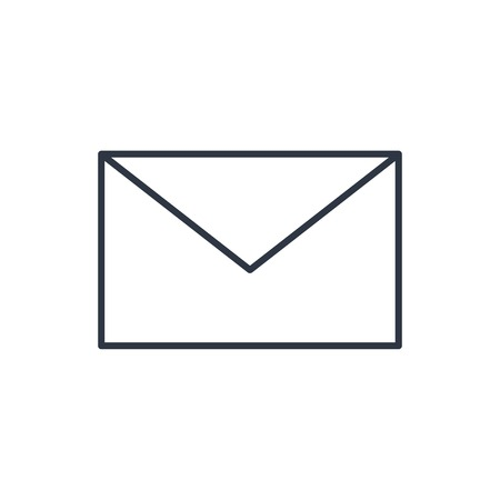 envelope icon: outline icon of mail Illustration