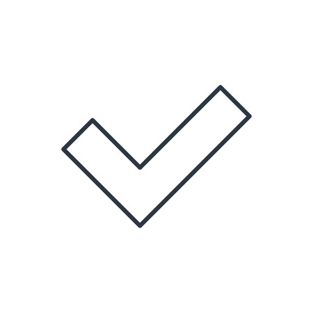 proceed: outline icon of check