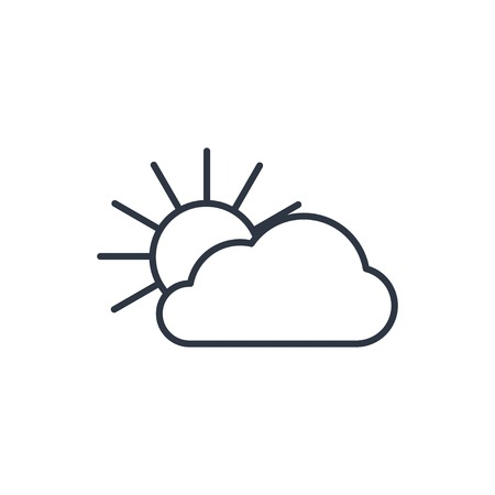wheather forecast: outline icon of sun and cloud