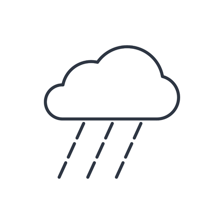 heavy rain: outline icon of heavy rain Illustration