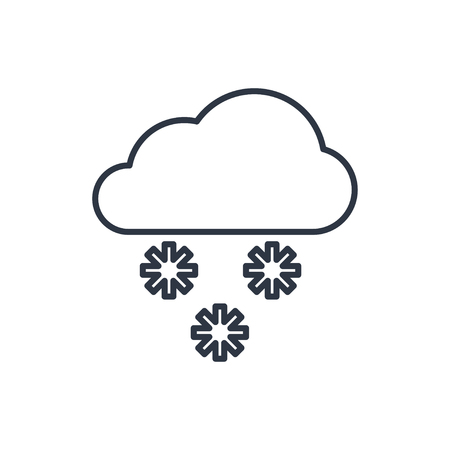 outline icon of snow
