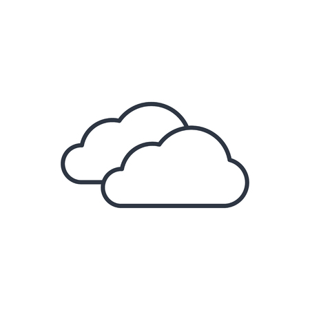 wheather forecast: outline icon of clouds