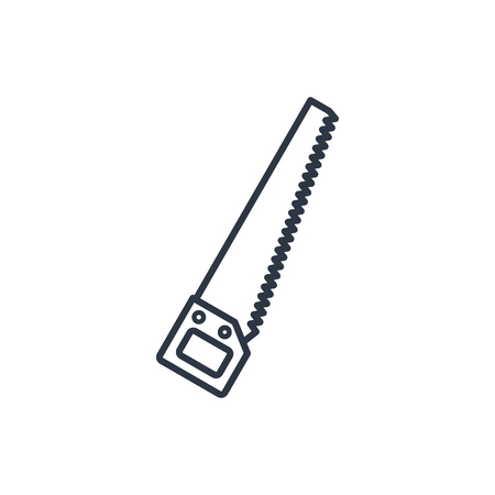 crosscut: outline icon of hand saw