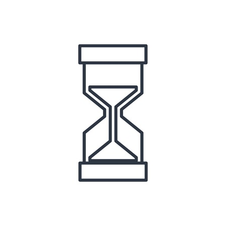 metering: outline icon of hourglass