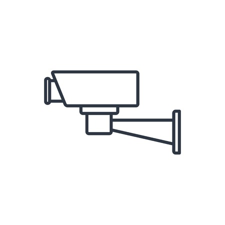 monitored area: outline icon of security camera