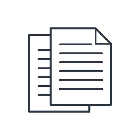 outline icon of documents Illustration