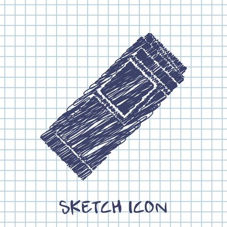 currently: kitchen doodle sketch icon of newspaper
