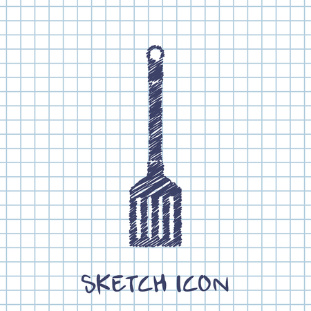 lasa�a: kitchen doodle sketch icon of cooking scoop