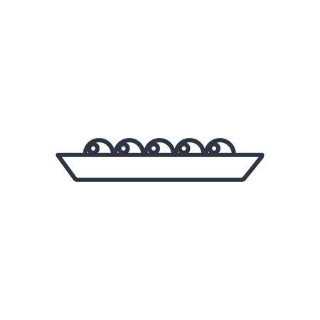 legume: Vector peas outline icon. Food symbol